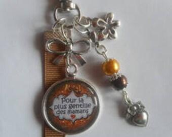 "Bag charm, door keys/MOM / ""for the sweet moms"" / gift/mothers day / thanks/Christmas/birthday"