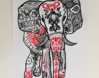 Textile transfer transfer elephant ethnic elephant, elephant, elephant, Joce150652creaconcep ethnic, thermo transfer