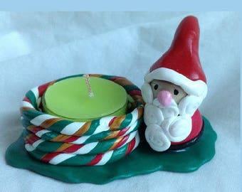 Candle holder, Santa centerpiece