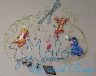 wire Aluminum theme initials Pooh and friends