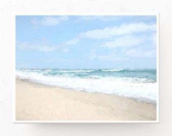 Sandy Beach Art Print - Beach Wall Art, Digital Download, Sandy Beach Print, Coastal Wall Art, Beach Decor, Beach Print, Printable Wall Art