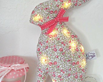 Nightlight Bunny Liberty pink girl on order