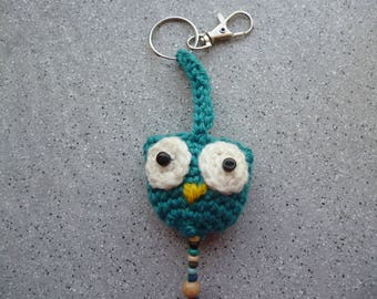 OWL keychain or OWL wool crocheted by me