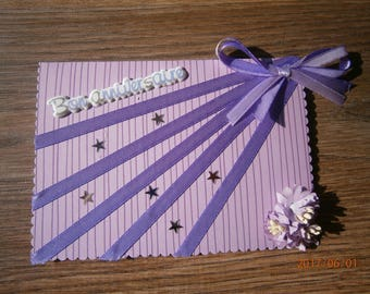 """Happy birthday"" card, dream in purple"