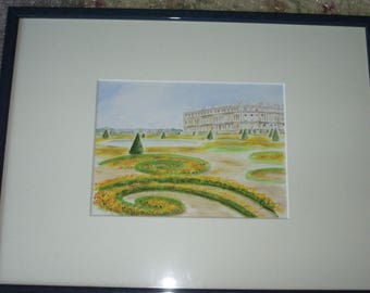 Original watercolor on paper: Palace of Versailles