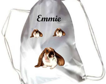 Gym bunnies pool bag personalized with name