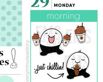 Coffee mocha frappe drink shakes planner Stickers smoothies, summer planner For Erin Condren, Plum Paper, Happy, Mambi, or Inkwell Press S28