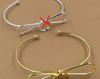 12mm: bracelet shape toned knot gold ring 12mm