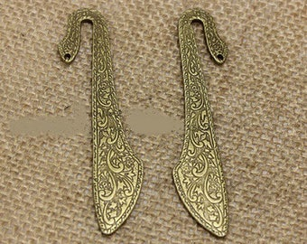 1 bookmark in carved bronze blank 80 * 16mm (approx.)