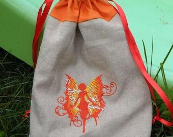 Orange fairy DrawString pouch