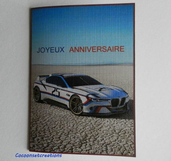 Voeux06 card birthday card bmw lover handmade handcrafted from voeux06 card birthday card bmw lover handmade handcrafted from cocoonsetcreations on etsy studio bookmarktalkfo Choice Image
