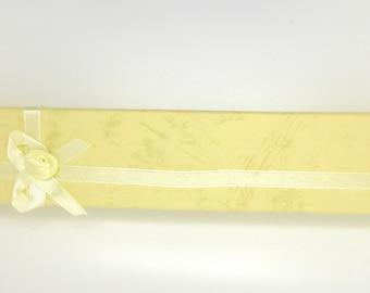 Yellow box, gift box, rectangular, bracelets, watches,