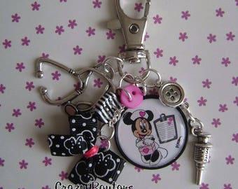 Nurse key chain or mini bag charm