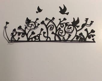 Coeursur with birds scrapbooking die cut