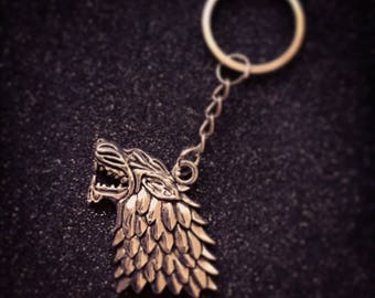 GOT Wolf head Keyring