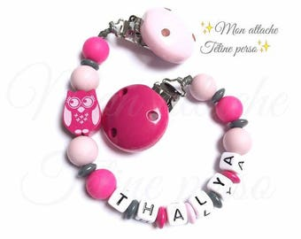"""Clip blanket personalized with wooden beads ~ cool model """"Thalya"""""""