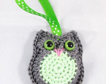 "Amigurumi OWL scented ""Gray and green"" - Ref HD02"