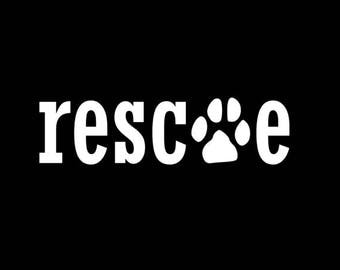 Rescue Dog Car Decal / Sticker