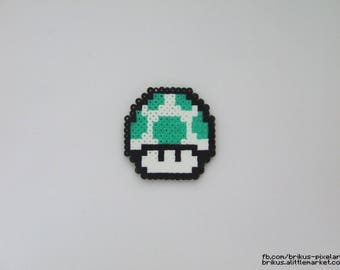 Super Mario (Pixel art in Hama beads) 1UP mushroom