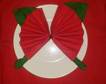 Christmas Butterfly napkin folding