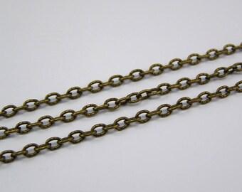 Chain bronze 4 mm x 3 mm thickness 1 mm 1 meter
