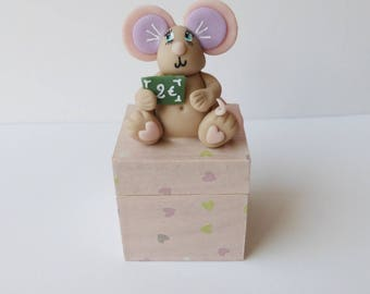 mouse cold porcelain tooth, box customizable