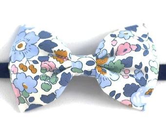 Denim bow tie Liberty Betsy blue