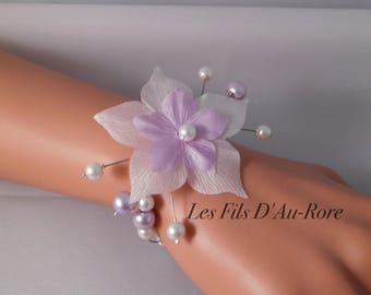 CELENA Parma and white wedding bracelet
