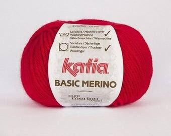 Yarn Katia Basic Mérino colours N ° 4
