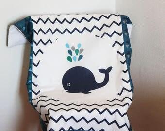 """Blanket pattern """"Whale"""""""