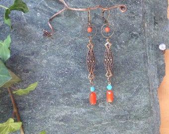 """Wild reeds"" retro Bohemian earrings"