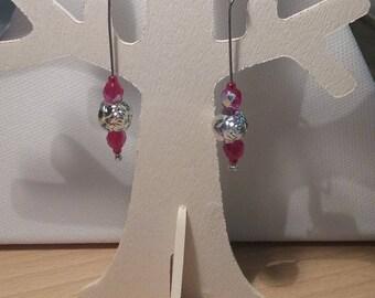 Earrings - Red Roses