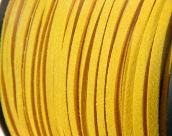 3 M X 1.5 mm - 4 yellow 3mm suede cord