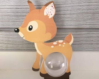 Box christening bambi ball 5cm - themed animal forest