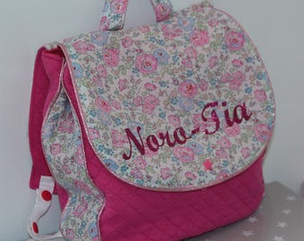 Personalized backpack for entering into kindergarten bag, liberty pink bliss