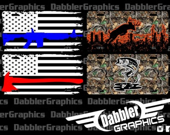 Car Tag Police Cop Fire Fighter Camo Fish Deer
