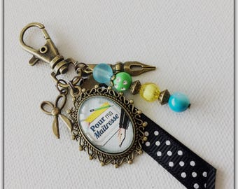 Teacher bag charm, teacher gift, teacher, school, teacher jewelry