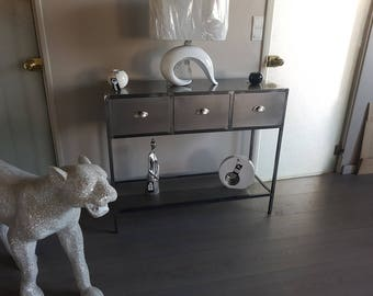 Industrial Cabinet console 3 steel drawers
