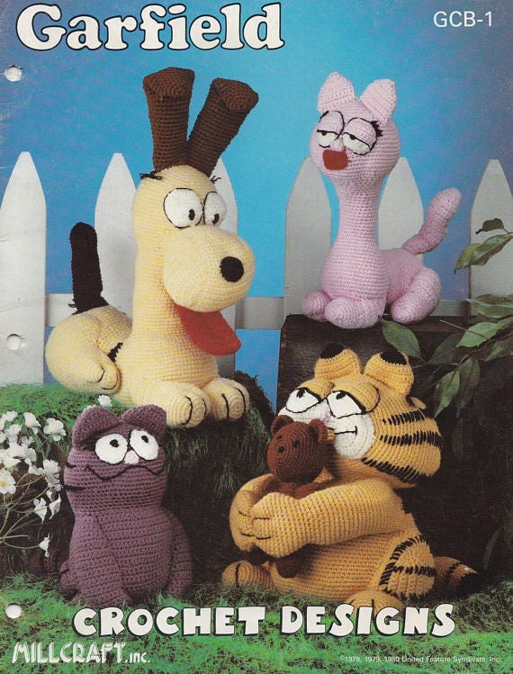 Garfield Crochet Pattern, Millcraft, Inc,Vintage crochet patterns,Handmade Craft Pattern e-Book / PDF / Pattern / Instant Download.