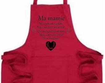 Custom choice of 2 colors apron celebrates grannies