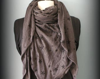 Châle Trendy Brown Stars Etole foulard écharpe cheich