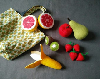 My felt market fruit basket