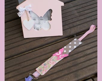 "Pacifier clip for girl ""Butterfly"""