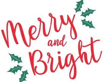Merry and Bright Holiday Cards - Pack of 10