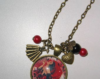 Necklace jewel cabochon 25mm * 30 years *.