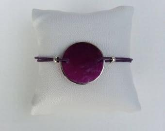 Purple sequin bracelet tone on tone