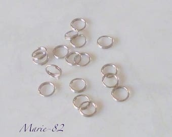 Double 6 mm - stainless steel rings