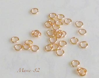 Gold - 4 X 0.70 mm rings