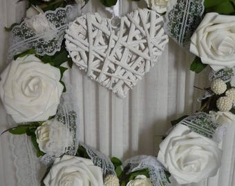 Wedding wreath handmade craft from alsace