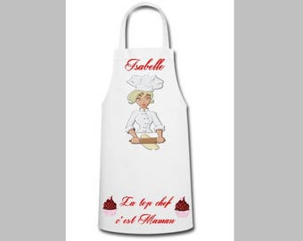 Personalized apron, name, text and drawing or picture to choose from, Cook, Baker